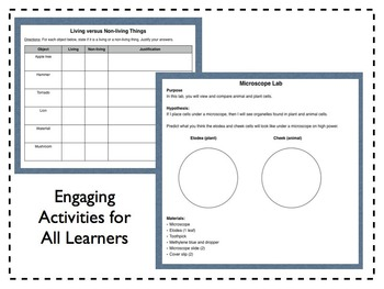 Introduction to Cells [aligns with NGSS MS LS 1-1]