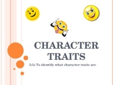 Introduction to Character Traits  Powerpoint
