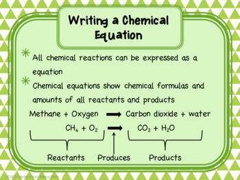 Introduction to Chemical Equations Lesson
