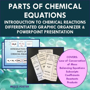 Introduction to Chemical Equations / Reactions PowerPoint and Foldable for INB