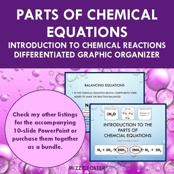 Introduction to Chemical Reactions Graphic Organizer Foldable for INB