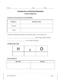 Introduction to Chemical Reactions--Graphic Organizer