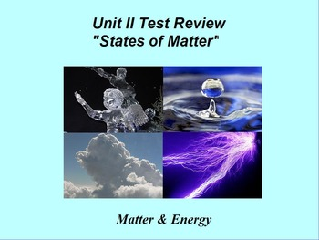 "Introduction to Chemistry ActivInspire Unit II Review ""States of Matter"""