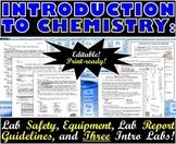 Introduction to Chemistry BUNDLE: Lab Safety, Equipment, and Three Intro Labs