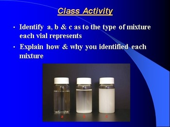 "Introduction to Chemistry Lesson I PowerPoint ""Classifying Matter"""