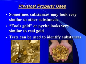 """Introduction to Chemistry Lesson II PowerPoint """"Physical Properties"""""""