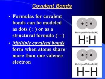 """Introduction to Chemistry Lesson II """"Covalent Bonding"""""""