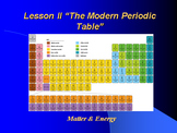 """Introduction to Chemistry Lesson II PowerPoint """"The Modern Periodic Table"""""""