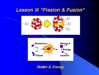 """Introduction to Chemistry Lesson III """"Fission & Fusion"""""""