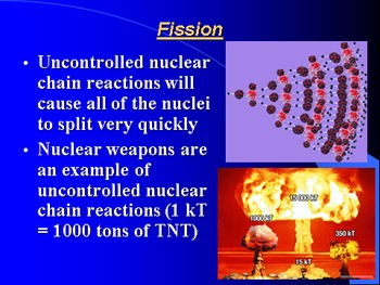 "Introduction to Chemistry Lesson III ""Fission & Fusion"""