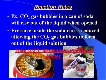 "Introduction to Chemistry Lesson IV PowerPoint ""Reaction Rates & Equilibrium"""