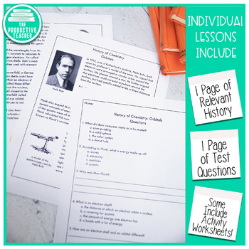 Reading Comprehension Passage and Questions: History of Chemistry Bundle