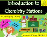 Introduction to Chemistry Stations - Day 1 Activity