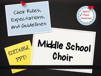 Introduction to Choir PowerPoint - EDITABLE!