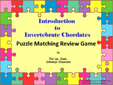 Introduction to Invertebrate Chordates Puzzle Matching Review Game