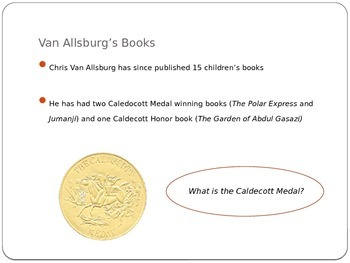 Introduction to Chris Van Allsburg Author Illustrator PowerPoint