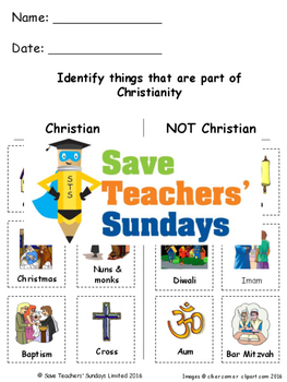 Introduction to Christianity Lesson Plan, Worksheets and PowerPoint