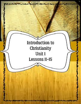 Introduction to Christianity for ELLs Lessons 1-5 Bible EL