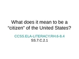 Introduction to Citizenship