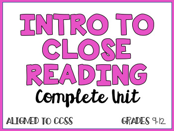 Introduction to Close Reading