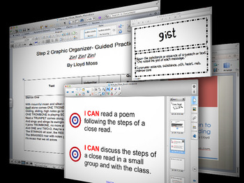 Introduction to Close Reads Lesson Plan and Smartboard/Pow