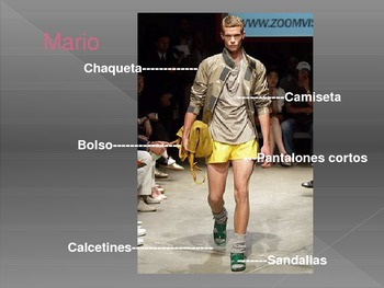 """Introduction to Clothing Vocabulary:  Fashion Show """"Desfile de Moda 2013"""""""