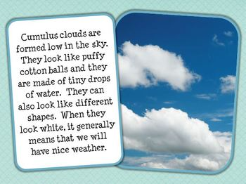 Introduction to Cloud Types Interactive E-Book for Smartboard (Freebie!!)