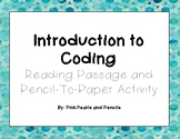 Introduction to Coding: Reading Passage and Activity