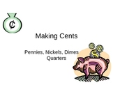 Introduction to Coins for Kinder, 1st, 2nd and 3rd Grades