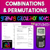 Algebra Combinations and Permutations on the TI 83 - 84 Graphing Calculator