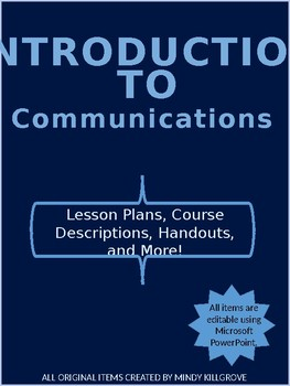 Introduction to Communications (Editable- Bundled Lessons)