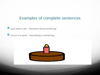 Introduction to Complete Sentences Grammar Powerpoint