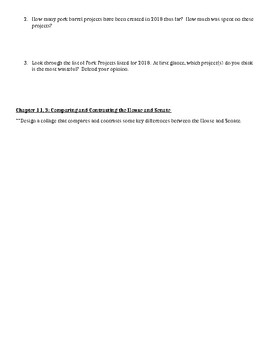 Introduction to Congress packet