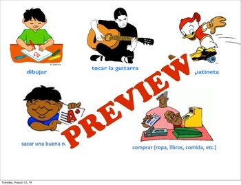 Introduction to Conjugation: Present tense -ar verbs Powerpoint and Inquiry