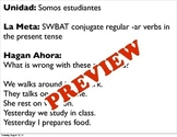 Introduction to Conjugation: Present tense -ar verbs Power