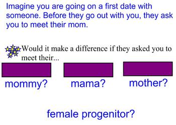 Introduction to Connotation and Denotation -- First Date