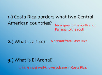 Introduction to Costa Rica Culture Powerpoint
