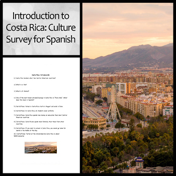 Introduction to Costa Rica: Culture Survey for Spanish Students