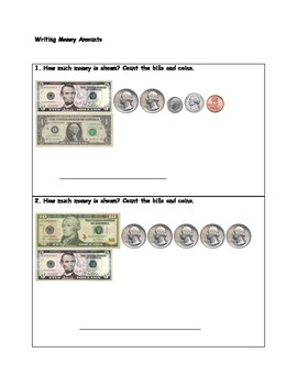Introduction to Counting Money and Practice