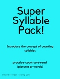 Introduction to Counting Syllables Activity Packet