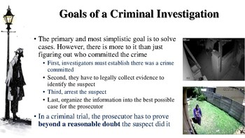 Introduction to Criminal Investigation Notes