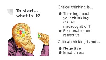 Introduction to Critical Thinking and Impediments Lesson and Guided Notes