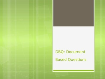 Introduction to DBQs for Middle Schoolers