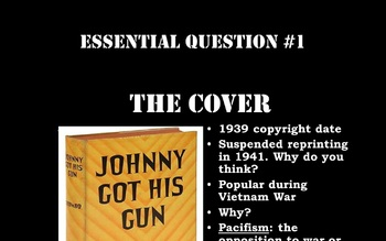 Introduction to Dalton Trumbo's Johnny Got His Gun