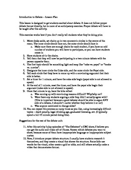 Introduction to Debate Lesson Plan