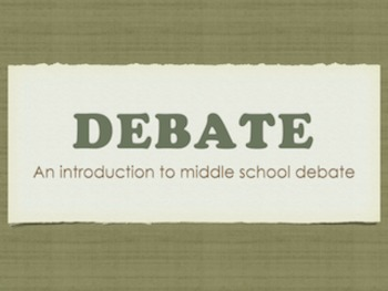 Introduction to Debate for Middle School