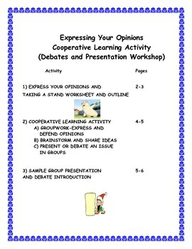 Introduction to Debates and Formal Presentations- Cooperative Learning Workshop