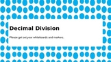 Introduction to Decimal Division