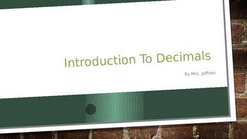 Introduction to Decimals