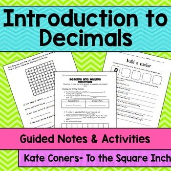 Introduction to Decimals Guided Notes